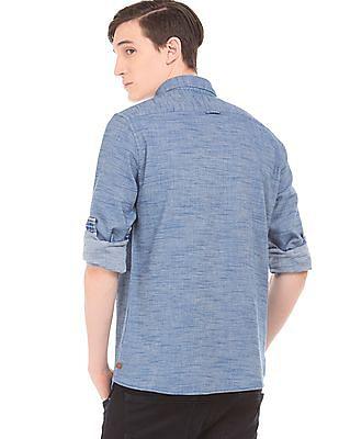 Cherokee Slubbed button Down Collar Shirt
