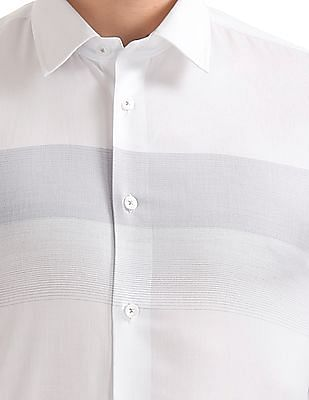 Arrow Newyork Gradient Stripe Slim Fit Shirt