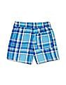 The Children's Place Baby Blue Woven Plaid Shorts