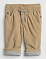 GAP Baby Brown Cord Lined Pull-On Pants