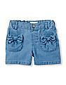 The Children's Place Toddler Girl Chambray Bow Pocket Shorts