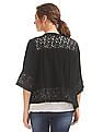 SUGR Lace Panel Waterfall Shrug