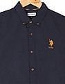 U.S. Polo Assn. Kids Boys Regular Fit Herringbone Weave Shirt