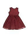 Cherokee Girls Floral Trim Tulle Fit And Flare Dress