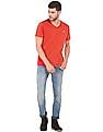 Aeropostale Solid V-Neck T-Shirt