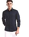 Excalibur Blue Super Slim Fit Solid Shirt