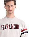 Flying Machine Grey Crew Neck Brand Applique Sweatshirt