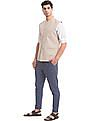 True Blue Slim Fit Textured Bandi
