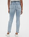 GAP Blue High Rise Distressed Cigarette Jeans With Secret Smoothing Pockets
