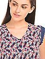 SUGR Floral Print Woven Top