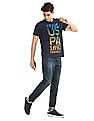 U.S. Polo Assn. Denim Co. Blue Printed Front Crew Neck T-Shirt