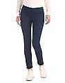 Cherokee Blue Mid Rise Solid Jeggings