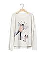 GAP Girls Embellished Graphic High Low Tee