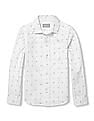 The Children's Place Boys White Long Sleeve Printed Shirt