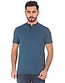 Roots by Ruggers Mandarin Collar Regular Fit Polo Shirt