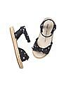 GAP Baby Blue Strappy Bow Jute Sandals