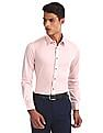 Arrow Newyork Pink French Placket Solid Shirt