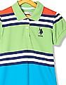 U.S. Polo Assn. Kids Girls Colour Block Cotton Polo Dress