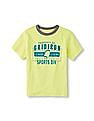 The Children's Place Boys Green Matchables Short Sleeve Sporty Graphic Neon Tee