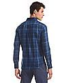 U.S. Polo Assn. Blue Rounded Cuff Check Shirt
