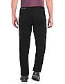 Roots by Ruggers Black Modern Slim Fit Solid Trousers