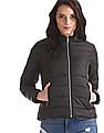 Cherokee Black High Neck Quilted Jacket
