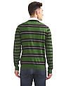 Arrow Sports V-Neck Striped Sweater