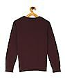 The Children's Place Boys Red V-Neck Solid Sweater