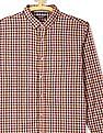 Ruggers Brown Rounded Cuff Check Shirt