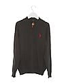U.S. Polo Assn. Kids Boys Regular Fit Zip Up Sweater