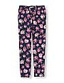 The Children's Place Girls Floral Print Woven Joggers