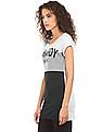 EdHardy Women Colour Block Longline Top