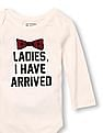 The Children's Place Baby Boys Long Sleeve 'Ladies, I Have Arrived' Little Talker Bodysuit