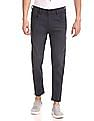 Flying Machine Charcoal Mankle Tapered Fit Mid Waist Jeans