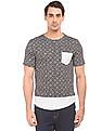 Colt Contrast Panel Printed T-Shirt