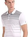 Arrow Newyork Short Sleeve Engineered Stripe Polo Shirt