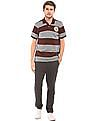 Aeropostale Striped Regular Fit Polo Shirt