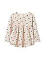 GAP Baby White Disney Mickey Mouse And Hearts Swing Top