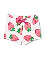 The Children's Place Toddler Girl White Matchables Strawberry Print Shorts