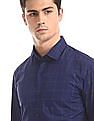 Arrow Newyork Blue Snug Skinny Fit Check Shirt