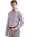 Excalibur Slim Fit Patterned Check Shirt