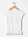 GAP Girls Embroidered Peplum Tee