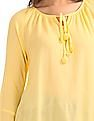 Bronz Bell Sleeve Peasant Top