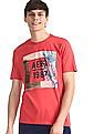 Aeropostale Red Crew Neck Printed T-Shirt