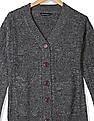 Flying Machine Women Patterned Knit Buttoned Cardigan