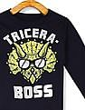 The Children's Place Blue Toddler Boy Tricera Boss Graphic Cotton T-Shirt