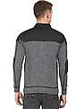 Flying Machine Panelled Zip Up Sweater